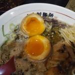 山中製麺所 - 煮玉子断面