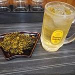 山中製麺所 - 高菜とハイボール