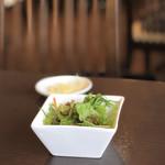 台湾料理 鼎 - セットのサラダ