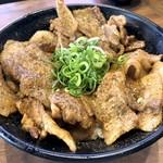 串揚げじゅらく - メガしびれ豚丼(980円)
