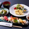 Yufuinhoterushuuhoukan - 料理写真:とり天・握り寿司膳
