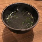 とりかわ博多 かわっこ 佐世保店 - シメの鳥スープ