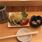 赤坂寿司 - サラダ・水蛸ポン酢
