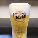 麺飯食堂 三羽鴉 - ドリンク写真:生ビール(アサヒスーパードライ)