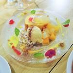 イタリアン&バール アルバータ - たっぷりフルーツのロールケーキ