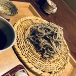 109175484 - 2枚目☆彡粗挽き(そば殻を挽き込んだ黒っぽいお蕎麦)お葱も白髪ねぎが好き♡