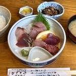 なかがわ - さしみ定食 1100円。
