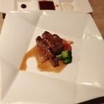 紅さんざし - お肉コースのメインディッシュ
