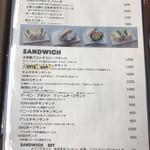 CAFE BEATO - メニュー(パスタ・サンドイッチ)