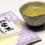 和束茶カフェ - 上香園の新茶 540円 器は中里太亀さん作品(2019.6月初旬)