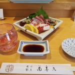 南喜久 - 料理写真:冷酒 & お造り盛り合わせ