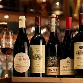 こだわりのBIOワインを堪能♪飲み放題コース4,000円~!