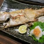 串揚げ 千金丹 - ノドグロ塩焼き(時価)