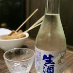 串揚げ 千金丹 - 対馬地酒(日本酒) 白嶽生酒 300ml 880円