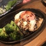 グリルキッチン チャンポン - 焼き鳥屋さんの和牛ハンバーグ