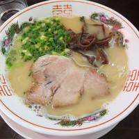 萬福本舗-ミニカレーセットのとんこつラーメン…830円
