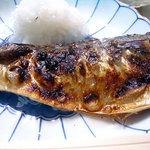 食堂 筑波 - 「塩サバ定食」の塩サバ