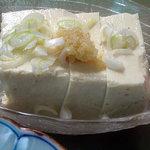 食堂 筑波 - 「塩サバ定食」の冷奴