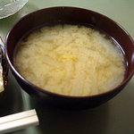 食堂 筑波 - 「塩サバ定食」の味噌汁