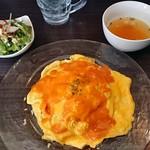 お肉と私の酒場 ハセガワ - ビスクソースオムライス700円込