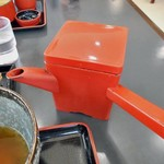 こぶし館 - 蕎麦湯