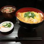 聞弦坊 - かつ丼 ※ミニ蕎麦付き