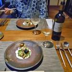 酒の宿 玉城屋 - 西バイ貝のソテー & 白ワイン