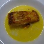 ラシェット・ブランシュ - 平目のポワレ、ムール貝と白菜のナージュ