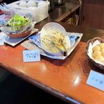 中華バイキング マーチャン家 - 大根と水菜のサラダ、大根とザーサイの和え物、ゴマ団子