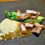 酒の宿 玉城屋 - アスパラガスのソテー オランデーズソース