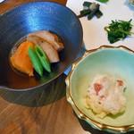 酒の宿 玉城屋 - 車麩の煮物 & ポテトサラダ