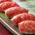 厳選石垣牛の炙り肉寿司 一貫