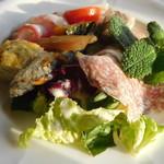 シンポジオン - 海老を平目に代えた季節の前菜の盛り合わせ