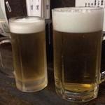炉端 蝦夷の里 - ビール大と中