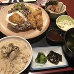 かき名庵 - ランチのカキフライ定食1500円