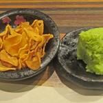 近江牛専門店 万葉 まえだ亭 - 揚げ大蒜と山葵