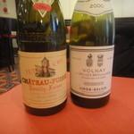 BISTRO L'Assiette - グラスワインは、シャトーフュッセと2000年のヴォルネイ(リジェ・ベレール)