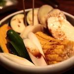焼肉 大仙 - 焼き野菜盛り合わせ