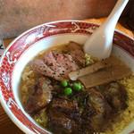 らーめん臺大 - くもたま麺(トッピング:軟骨焼豚)