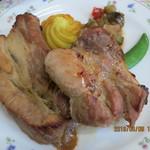 109232642 - スペアリブセット(パン・前菜・サラダ・スープ・デザート3種盛り付き)※ドリンクおかわりOK(14時まで)