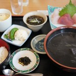 海鮮味処 亀吉 - 料理写真:イカスミ汁定食