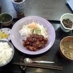 なすび - 料理写真:鶏肉味噌焼き定食@850