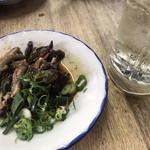 まるしん - 別の日に食べた「鰻肝」です。