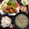 蛇の目寿司 - 料理写真:「カキフライ定食」@1100+「しじみ汁」@330