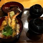 あじさい - 料理写真:ソースかつ丼と天丼
