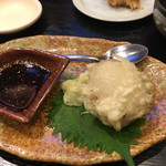 UO魚 KOBE海鮮酒場 - 半熟玉子の天ぷら