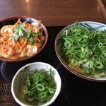 丸亀製麺 - かけうどんと親子丼(小)