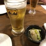 肝どん - 100円ビール