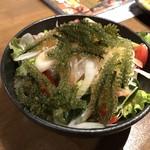 肝どん - 海ブドウ