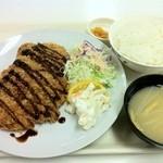 札幌市交通局本局食堂 - メガカツランチ